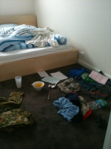 dirty bedroom