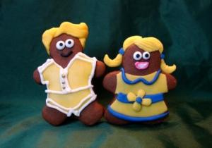 brother and sister gingerbread